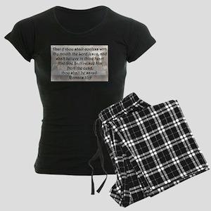 Romans 10:9 Women's Dark Pajamas