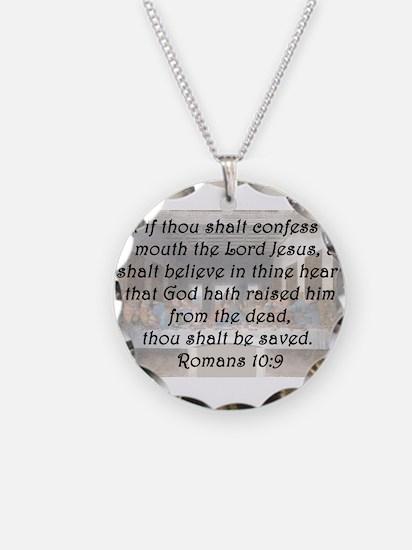 Romans 10:9 Necklace
