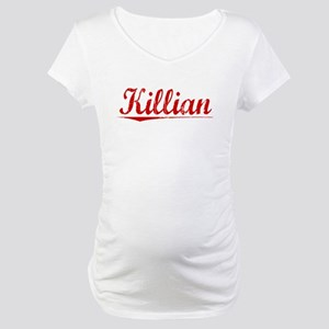 Killian, Vintage Red Maternity T-Shirt