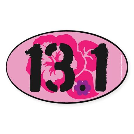 13.1 Flowery Bumper Sticker 2