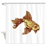 Gold Fish Shower Curtain