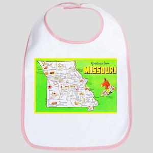 Missouri Map Greetings Bib