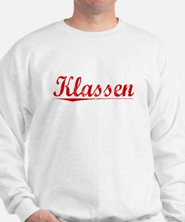 Klassen, Vintage Red Sweatshirt