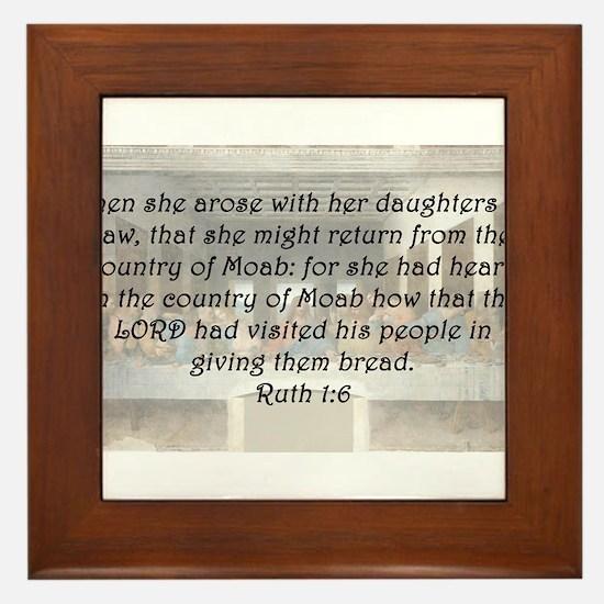 Ruth 1:6 Framed Tile
