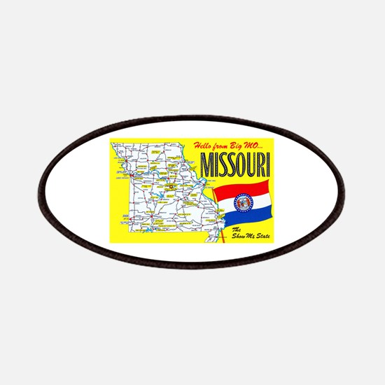 Missouri Map Greetings Patches