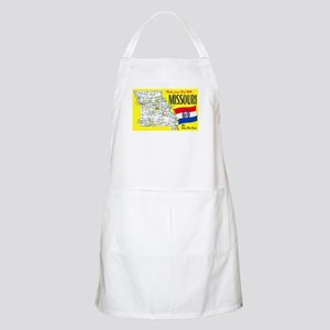 Missouri Map Greetings Apron
