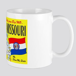 Missouri Map Greetings Mug
