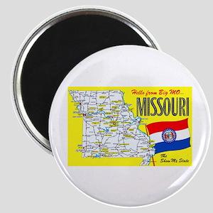Missouri Map Greetings Magnet