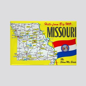 Missouri Map Greetings Rectangle Magnet