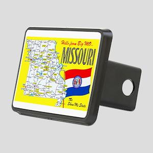 Missouri Map Greetings Rectangular Hitch Cover