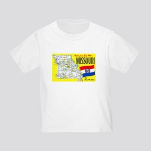Missouri Map Greetings Toddler T-Shirt