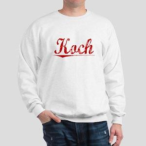 Koch, Vintage Red Sweatshirt