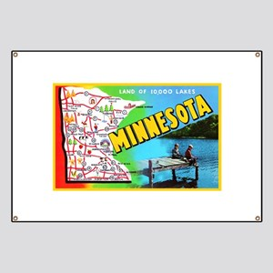 Minnesota Map Greetings Banner