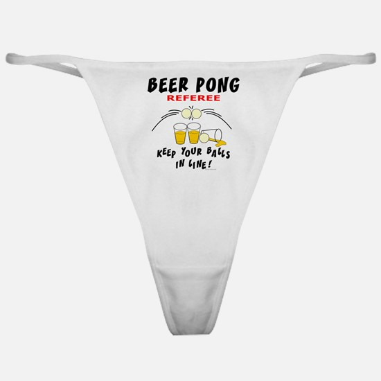 Beer Pong Referee Classic Thong