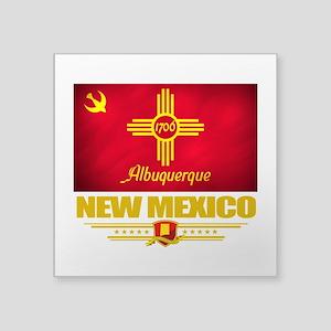 "Albuquerque (Flag 10) Square Sticker 3"" x 3"""