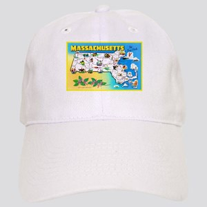 Massachussetts Map Greetings Cap