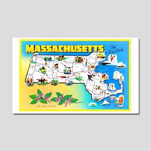 Massachussetts Map Greetings Car Magnet 20 x 12