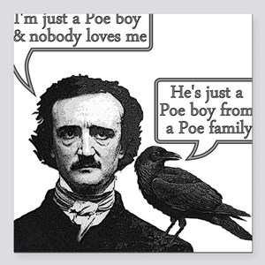 "Poe Boy II Square Car Magnet 3"" x 3"""
