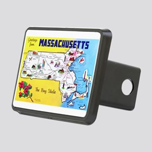 Massachussetts Map Greetings Rectangular Hitch Cov