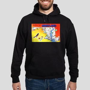 Maryland Map Greetings Hoodie (dark)