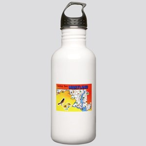 Maryland Map Greetings Stainless Water Bottle 1.0L