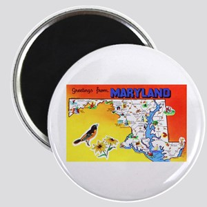 Maryland Map Greetings Magnet