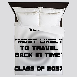 Voted Time Travel Queen Duvet