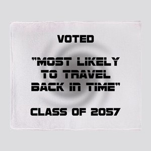 Voted Time Travel Throw Blanket