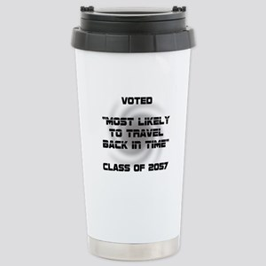 Voted Time Travel Stainless Steel Travel Mug