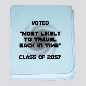 Voted Time Travel baby blanket
