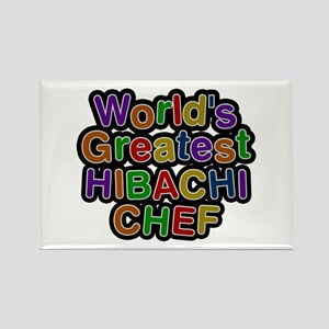 World's Greatest HIBACHI CHEF Rectangle Magnet