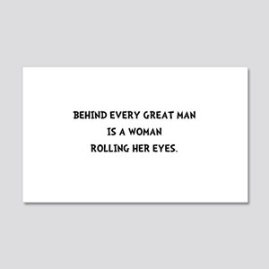 Woman Rolling Eyes 20x12 Wall Decal