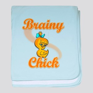 Brainy Chick #2 baby blanket