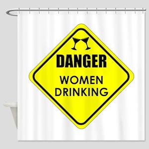 Women Drinking Shower Curtain