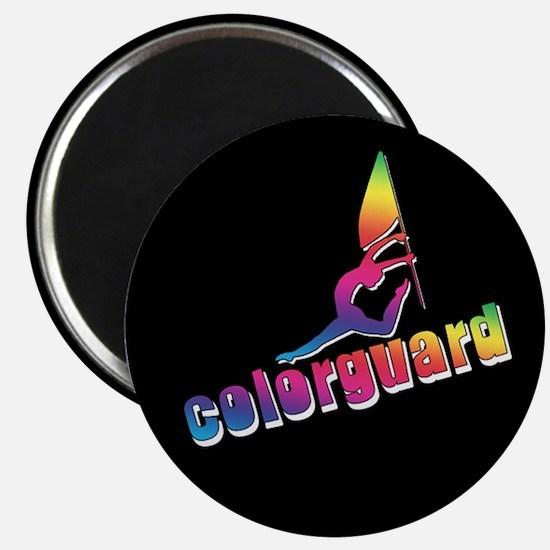 Colorful Colorguard Magnet