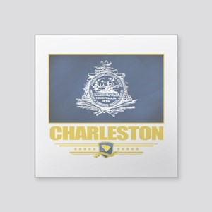 "Charleston (Flag 10) Square Sticker 3"" x 3"""