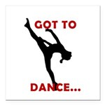 "Dance / Gymnastics Car Magnet 3"" x 3"""
