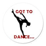 Dance / Gymnastics Car Magnet
