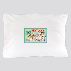 Kentucky Map Greetings Pillow Case