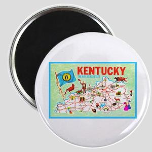 Kentucky Map Greetings Magnet