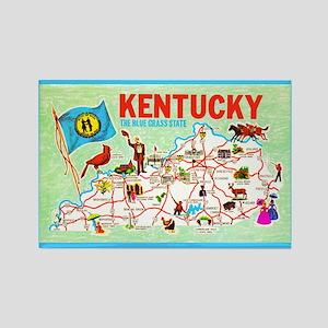 Kentucky Map Greetings Rectangle Magnet