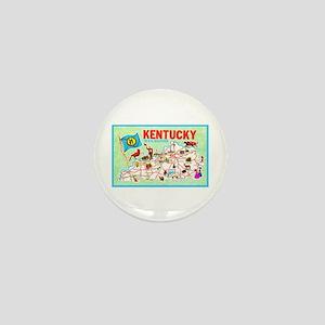 Kentucky Map Greetings Mini Button