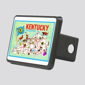 Kentucky Map Greetings Rectangular Hitch Cover