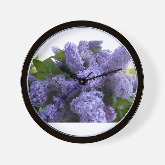 Lilac Lilac Wall Clock