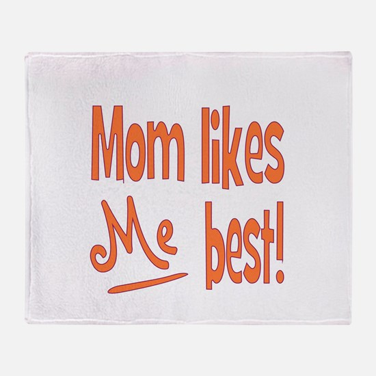 mombest.png Throw Blanket