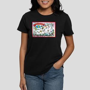 Kentucky Map Greetings Women's Dark T-Shirt