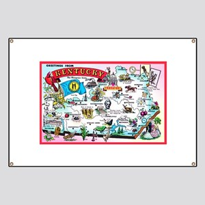 Kentucky Map Greetings Banner