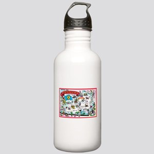Kentucky Map Greetings Stainless Water Bottle 1.0L