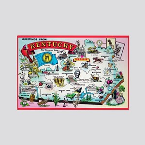 Kentucky Map Greetings Rectangle Magnet