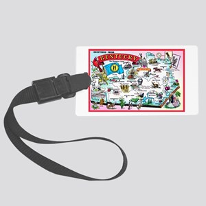 Kentucky Map Greetings Large Luggage Tag
